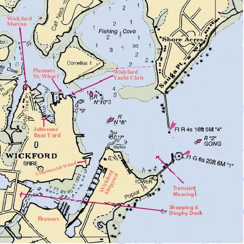 Wickford Harbor Chart