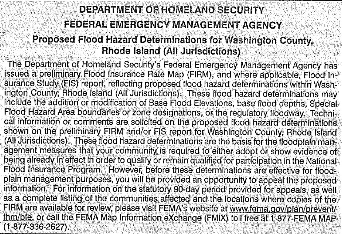 fema notice in ne independent